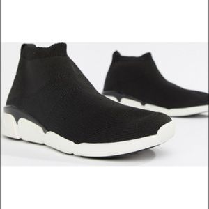 ALDO Black Sock Sneakers With Chunky Soles - Black